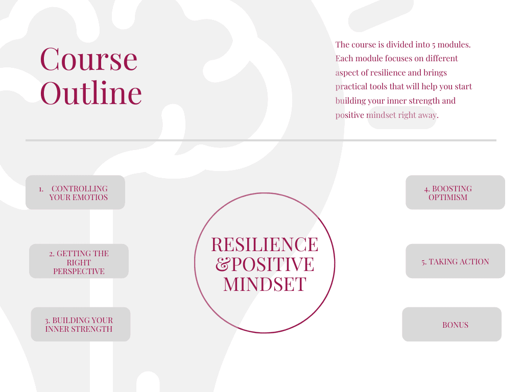 Online Course Resilience, Positive Mindset
